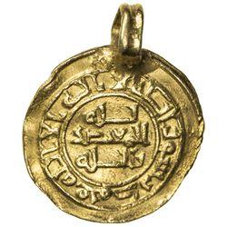 ABBASID: al-Mu'tadid, 892-902, AV donative 1/4 dinar (1.14g), NM, AH286. VF