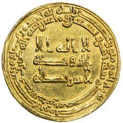 ABBASID: al-Muktafi, 902-908, AV dinar (3.39g), Misr, AH292. EF