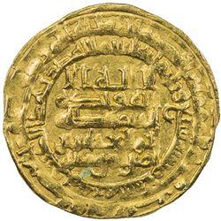 ABBASID: al-Muqtadir, 908-932, AV dinar (3.85g), Madinat al-Salam, AH307. EF