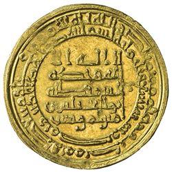 ABBASID: al-Muqtadir, 908-932, AV dinar (3.94g), Misr, AH309. EF