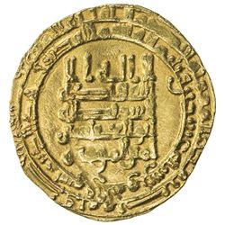 ABBASID: al-Muqtadir, 908-932, AV dinar (3.96g), Suq al-Ahwaz, AH320. EF