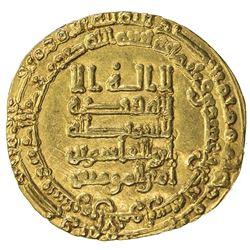 ABBASID: al-Qahir, 932-934, AV dinar (4.33g), Tustar min al-Ahwaz, AH321. VF-EF