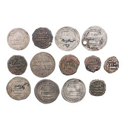 ABBASID: LOT of 9 silver and 7 copper coins