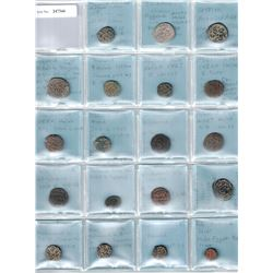 ABBASID: LOT of 27 copper coins, all in envelopes, identified