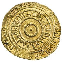 FATIMID: al-'Aziz, 975-996, AV dinar (4.07g), Fas (=Fez), AH382. EF