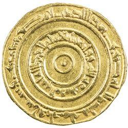 FATIMID: al-'Aziz, 975-996, AV dinar (4.18g), Misr, AH366. EF-AU