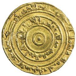 FATIMID: al-'Aziz, 975-996, AV dinar (4.14g), Misr, AH367. VF