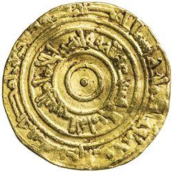 FATIMID: al-'Aziz, 975-996, AV dinar (4.14g), Misr, AH371. VF