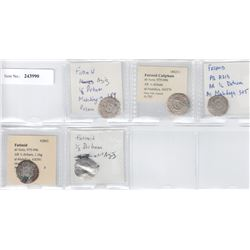 FATIMID: al-'Aziz, 975-996, LOT of 5 silver half dirhams