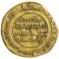 FATIMID: al-Hakim, 996-1021, AV dinar (4.01g), Misr, AH410. VF