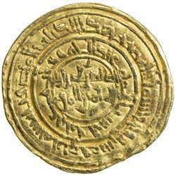FATIMID: al-Zahir, 1021-1036, AV dinar (4.18g), al-Mansuriya, AH424. VF