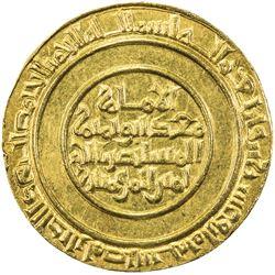 FATIMID: al-Mustansir, 1036-1094, AV dinar (4.09g), Misr, AH428. UNC