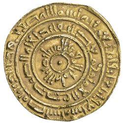 FATIMID: al-Mustansir, 1036-1094, AV dinar (3.86g), Misr, AH447. VF