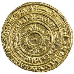 FATIMID: al-Mustansir, 1036-1094, AV dinar (4.13g), Misr, AH448. VF-EF