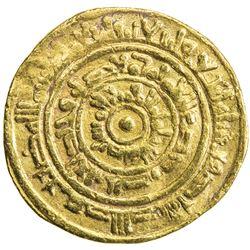 FATIMID: al-Mustansir, 1036-1094, AV dinar (3.94g), Sur, AH444. F-VF