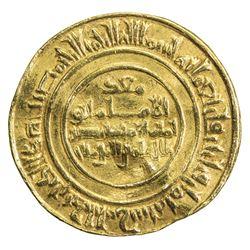 FATIMID: al-Mustansir, 1036-1094, AV dinar (4.22g), Tarabulus (Trablus), AH438. VF