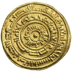 FATIMID: al-Mustansir, 1036-1094, AV dinar (3.88g), Tarabulus (Trablus), AH441. VF