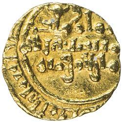 FATIMID: al-Mustansir, 1036-1094, AV 1/4 dinar (0.75g), NM, DM. VF