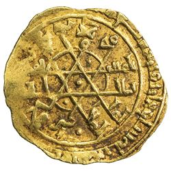 FATIMID: al-Mustansir, 1036-1094, AV 1/4 dinar (0.94g), Siqilliya (Palermo), AH447. VF