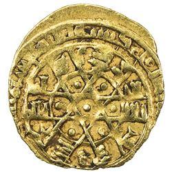 FATIMID: al-Mustansir, 1036-1094, AV 1/4 dinar (1.00g), Siqilliya (Palermo), AH4xx. VF