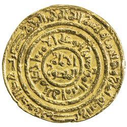 FATIMID: al-Amir al-Mansur, 1101-1130, AV dinar (4.19g), Misr, AH508. VF