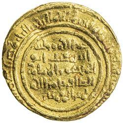 FATIMID: al-Zafir, 1149-1154, AV dinar (4.45g), MM, AH54x. VF