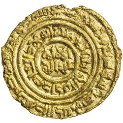FATIMID: al-'Adid, 1160-1171, AV dinar (3.62g), Misr, AH557. VF