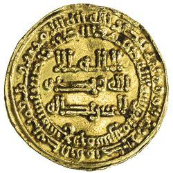 ABBASID OF YEMEN: al-Mu'tamid, 870-892, AV dinar mutawwaq (2.93g), San'a, AH259. VF-EF