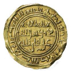 SULAYHID: al-Mukarram Ahmad, 1081-1091, AV dinar (2.38g), 'Adan, AH(4)80. VF-EF