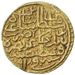 OTTOMAN EMPIRE: Selim I, 1512-1520, AV sultani (3.51g), Kostantiniye, AH918. VF