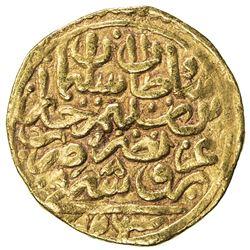 OTTOMAN EMPIRE: Suleyman I, 1520-1566, AV sultani (3.41g), Bursa, AH926. VF