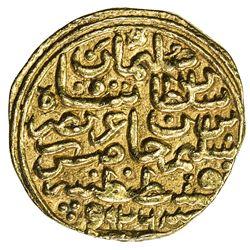 OTTOMAN EMPIRE: Suleyman I, 1520-1566, AV sultani (3.54g), Kostantiniye, AH926. VF
