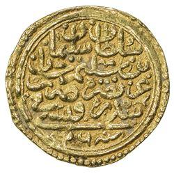 OTTOMAN EMPIRE: Suleyman I, 1520-1566, AV sultani (3.48g), Sidrekapsi, AH926. VF