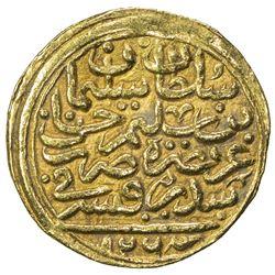 OTTOMAN EMPIRE: Suleyman I, 1520-1566, AV sultani (3.52g), Sidrekapsi, AH926. VF