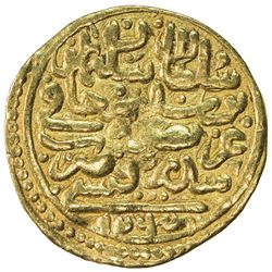 OTTOMAN EMPIRE: Suleyman I, 1520-1566, AV sultani (3.36g), Sidrekapsi, AH926. VF