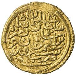 OTTOMAN EMPIRE: Suleyman I, 1520-1566, AV sultani (3.47g), Siroz, AH926. VF
