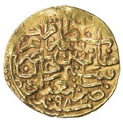 OTTOMAN EMPIRE: Murad III, 1574-1595, AV sultani (3.49g), Baghdad, AH982. VF-EF
