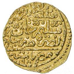OTTOMAN EMPIRE: Murad III, 1574-1595, AV sultani (3.48g), Misr, AH982. EF