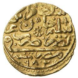 OTTOMAN EMPIRE: Murad III, 1574-1595, AV sultani (3.47g), Misr, AH982. VF-EF