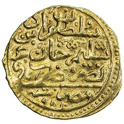 OTTOMAN EMPIRE: Murad III, 1574-1595, AV sultani (3.48g), Misr, AH982. VF