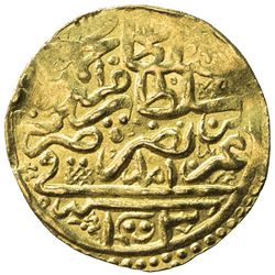 OTTOMAN EMPIRE: Mehmet III, 1595-1603, AV sultani (3.50g), Amid, AH1003. VF