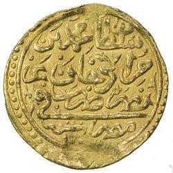OTTOMAN EMPIRE: Mehmet III, 1595-1603, AV sultani (3.45g), Misr, AH1003. VF-EF