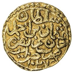OTTOMAN EMPIRE: Osman II, 1618-1622, AV sultani (3.41g), Jaza'ir (Cezayir), AH1027. VF