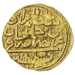 OTTOMAN EMPIRE: Murad IV, 1623-1640, AV sultani (3.30g), Kostantiniye, AH1032. VF