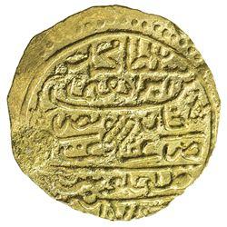 OTTOMAN EMPIRE: Mehmet IV, 1648-1687, AV sultani (3.44g), Tarabulus Gharb (Trablus), AH1078. EF