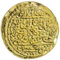 OTTOMAN EMPIRE: Mehmet IV, 1648-1687, AV sultani (3.47g), Tunis, AH1061. VF-EF