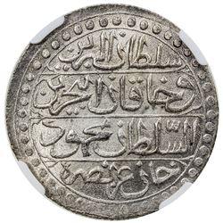 ALGIERS: Mahmud II, 1809-1830, AR budju, Jaza'ir, AH1239. NGC MS65