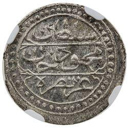 ALGIERS: Mahmud II, 1809-1830, AR 1/8 budju, Jaza'ir, AH1244. NGC MS66