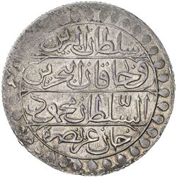 ALGIERS: Mahmud II, 1809-1830, AR 2 budju (19.34g), Jaza'ir, AH1239. VF