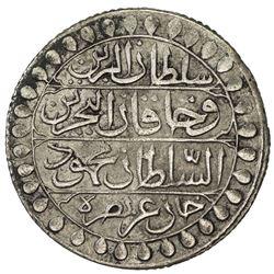 ALGIERS: Mahmud II, 1808-1839, AR 2 budju (19.10g), Jaza'ir, AH1241. VF